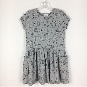 Hanna Andersson Grey Dinosaur Discover Dress 10